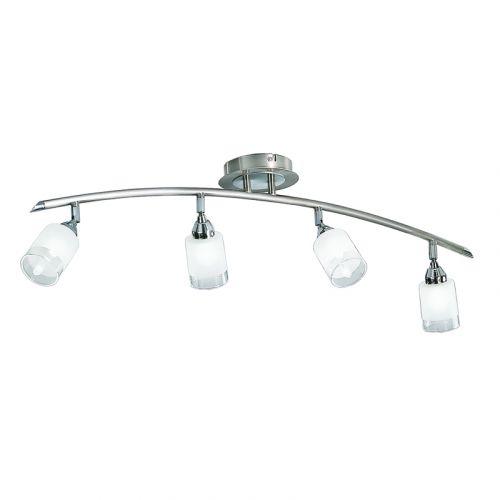 Spotlight Ceiling Fitting 4 Light Satin Chrome Offica LEK60181