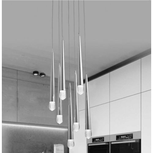 Avivo Droplet PD2309-7A B 7 Light LED Pendant Brass Ceiling Fitting