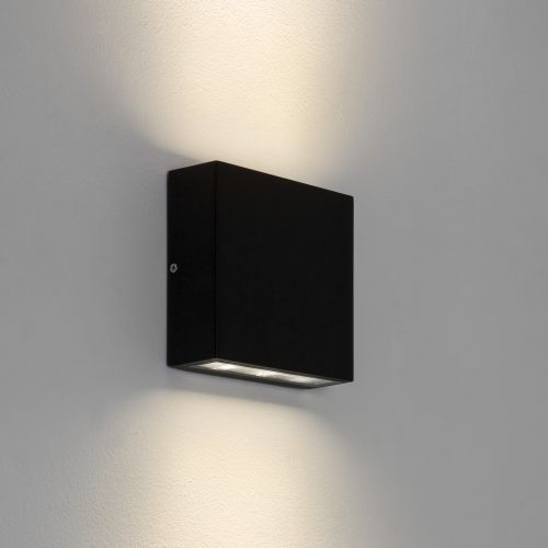 Astro Elis Twin LED Outdoor Wall Light in Textured Black 1331002