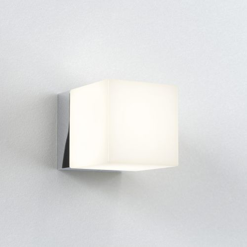 Astro Cube Bathroom Wall Light in Polished Chrome 1140001