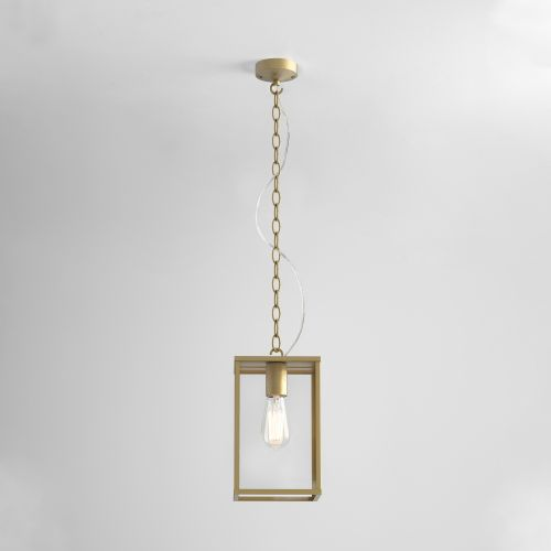 Astro Homefield Pendant 240 Outdoor Pendant in Natural Brass 1095035