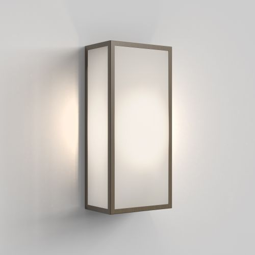 Astro Messina 160 Frosted II Outdoor Wall Light in Bronze 1183026