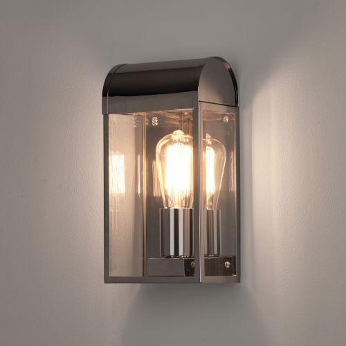 Astro Newbury Outdoor Wall Light in Polished Nickel 1339002