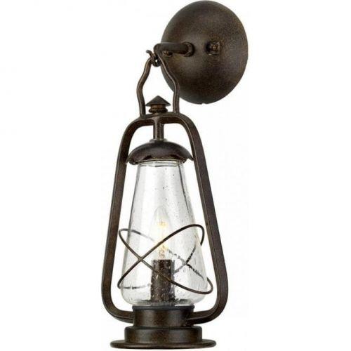 Elstead Miners 1 Light Outdoor Wall Lantern Old Bronze ELS/MINERS-WALL