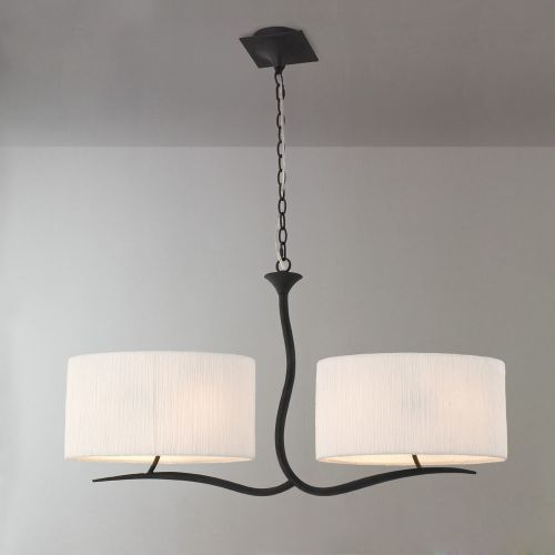 Mantra M1150 Eve Pendant Fitting 2 Arm 4 Light E27 Anthracite White Oval Shades