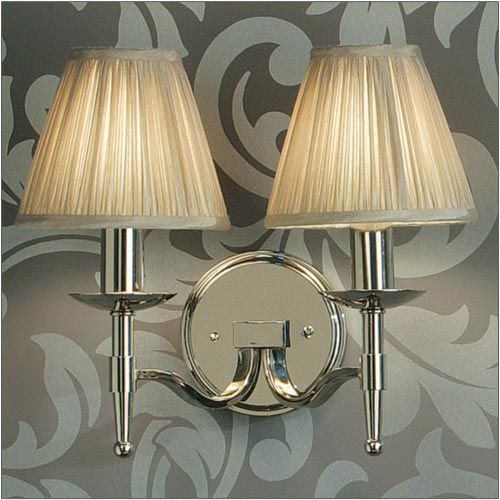 Interiors 1900 Stanford Double Wall Light Nickel 63656