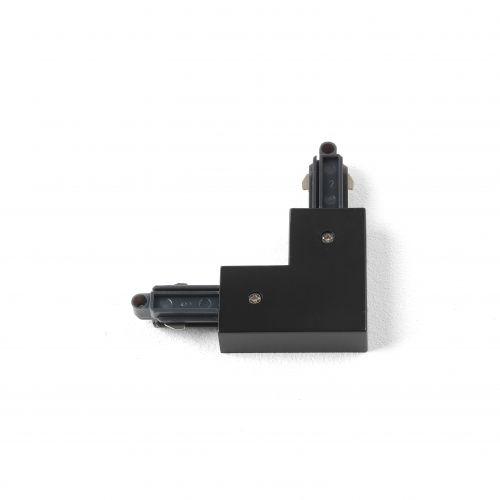Astro 90° Corner Connector - Left Track in Matt Black 6020014
