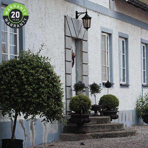 Noral Cardinal F Outdoor Wall Light Lantern Black NOR/7103112 20 Year Warranty