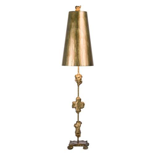 Flambeau Fragment Gold Finish Table Lamp Sculpted FB/FRAGMENT/TL-G