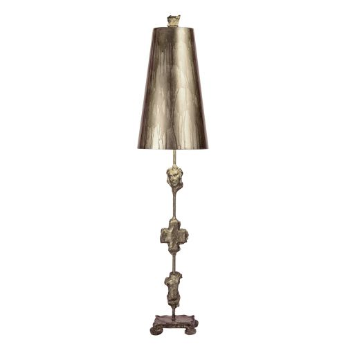 Flambeau Fragment Silver Leaf Table Lamp Sculpted FB/Fragment/TL-S
