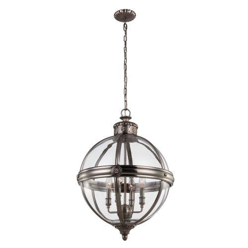 Feiss Adams 4 Light Globe Pendant FE/ADAMS/4P ANL