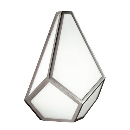 Feiss Diamond Polished Nickel Opaque Glass Wall Light FE/DIAMOND1