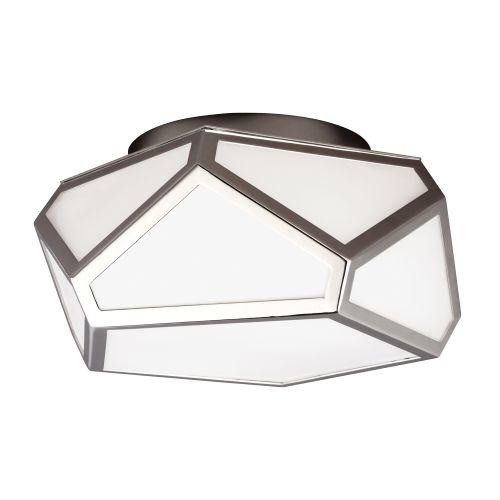 Feiss Diamond Polished Nickel Flush Fitting FE/DIAMOND/F