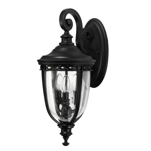 Feiss English Bridle Medium Wall Lantern In Black ELS/ FE/EB2/M BLK