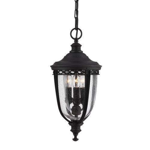 Feiss English Bridle Medium Chain Outdoor Lantern Black ELS/ FE/EB8/M BLK