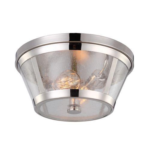 Feiss Harrow 2Lt Polished Nickel Ceiling Flush FE/HARROW/F