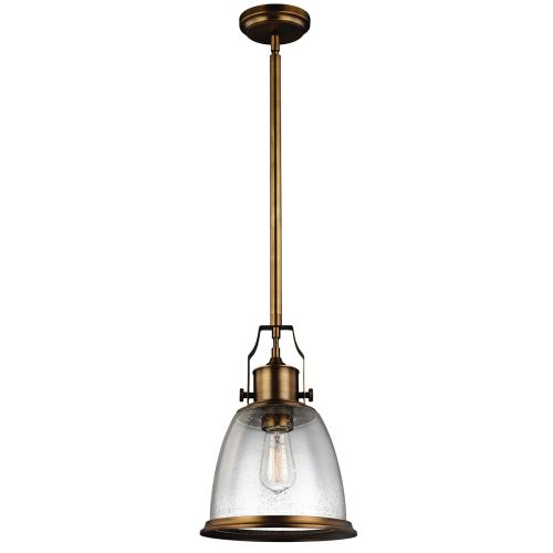 Feiss FE/HOBSON/P/M AB Hobson 1Lt Aged Brass Medium Ceiling Pendant