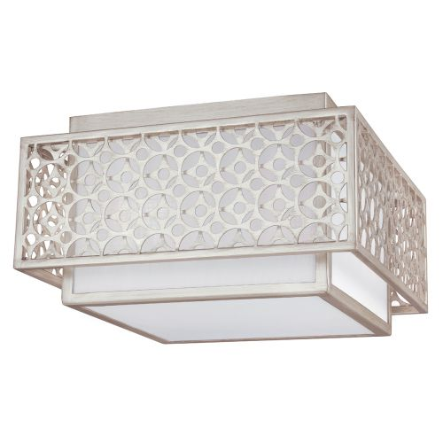 Feiss FE/KENNEY/F Kenney 2Lt Silver Flush Ceiling Light