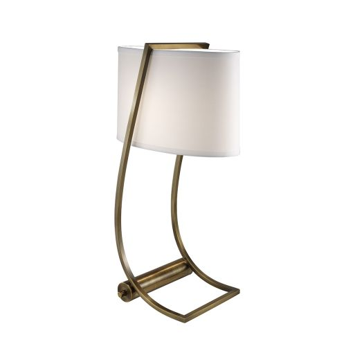Feiss Lex Bali Bronze Desk Lamp. USB Port And Shade FE/LEX TL BB