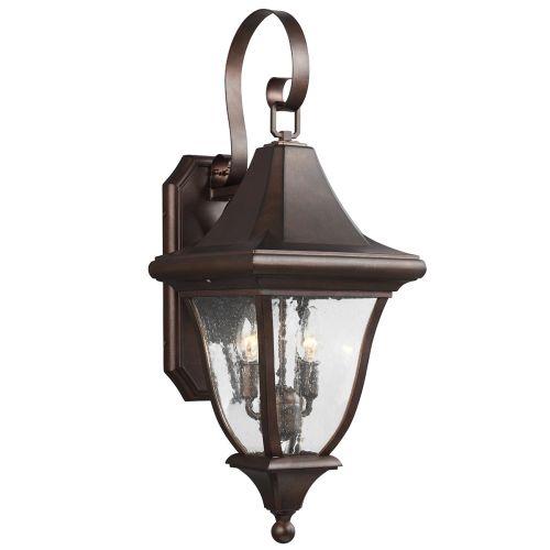 Feiss Oakmont Outdoor Medium Wall Lantern Patina Bronze FE/OAKMONT2/M