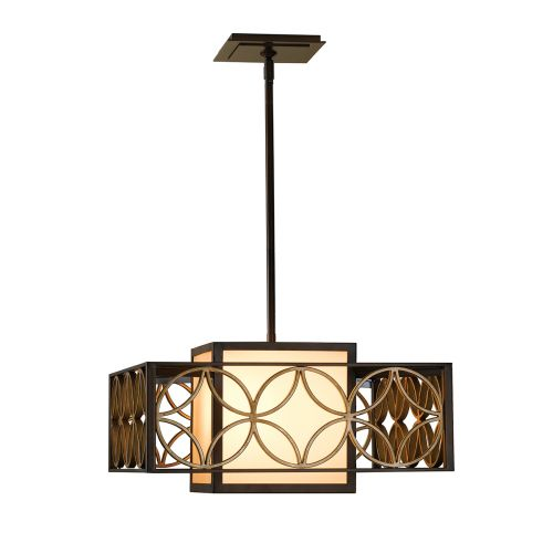 Feiss FE/REMY/P/B Remy 1Lt Heritage Bronze And Gold Ceiling Pendant