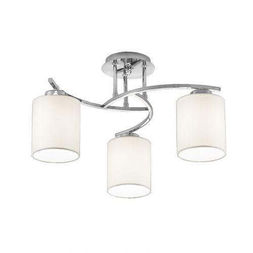 Semi-Flush Ceiling Fitting 3 Light Fabric Shades Vegas LEK60242