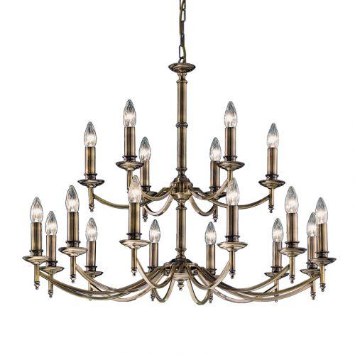 Chandelier Ceiling Fitting 2-Tier 18 Light Bronze Stravinsky LEK60378