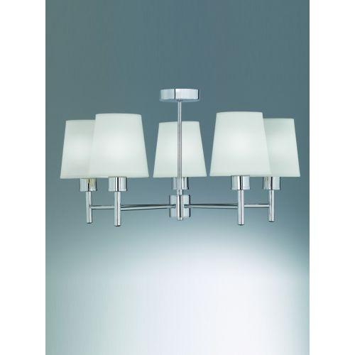 Multi-Arm Ceiling Fitting 5 Light Cream Shades Impulse LEK60485