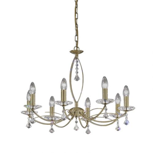 Multi-Arm Crystal Glass Ceiling 8 Light Fitting Bronze  Larvotto LEK61311