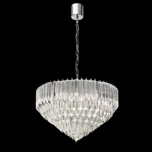 Crystal Tier Pendant  6 Light Fitting Chrome Ravenna LEK61497