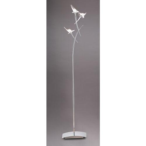 Mantra Flavia Floor Lamp 3 Light Polished Chrome M0314