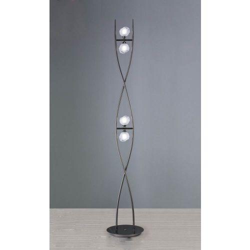 Mantra M0816BC Fragma Floor Lamp 4 Light G9 Black Chrome