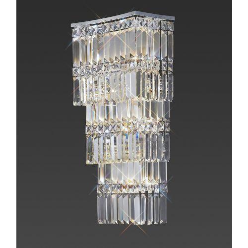 Diyas Gianni 4 Light Wall Lamp  Polished Chrome/Crystal IL30640