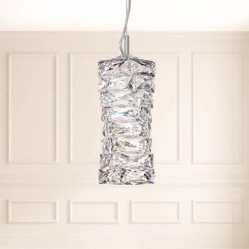 Schonbek Glissando Swarovski Crystal LED Ceiling Pendant Stainless Steel STW410E-SS1S