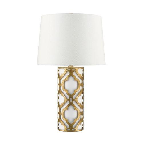 Gilded Nola Arabella Table Lamp Distressed Gold GN/ARABELLA/TL/G