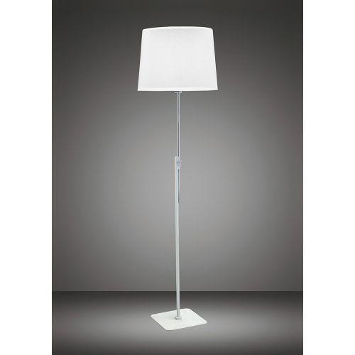 Mantra M5310 Habana Floor Lamp Telescopic 1 Light Without Shade E27, Matt White/Polished Chrome