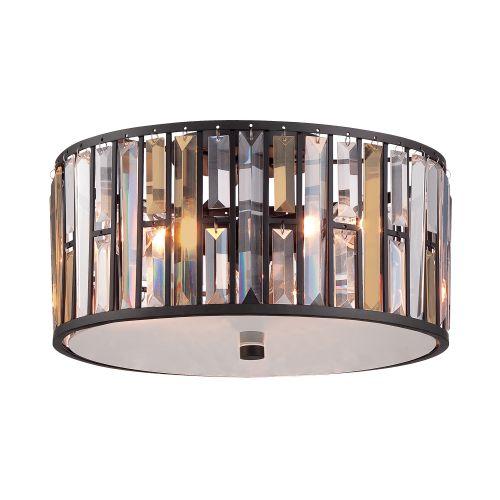 Hinkley HK/GEMMA/F VBZ Gemma 3Lt Vintage Bronze Flush Ceiling Light