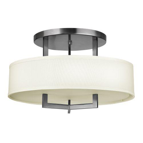 Hinkley Hampton Semi-Flush Ceiling Light Cream Shade HK/HAMPTON/SF