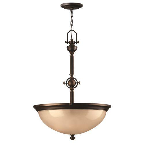 Hinkley  HK/MAYFLOWER/P/C Mayflower 3Lt Antique Brass Ceiling Pendant