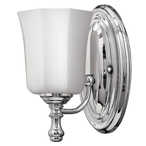 Hinkley Shelly 1lt Bathroom Wall Light Polished Chrome ELS/HK/SHELLY1 BATH