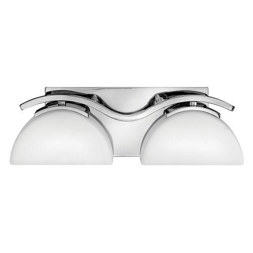 Hinkley Verve 2lt Bathroom Wall Light Polished Chrome ELS/HK/VERVE2 BATH