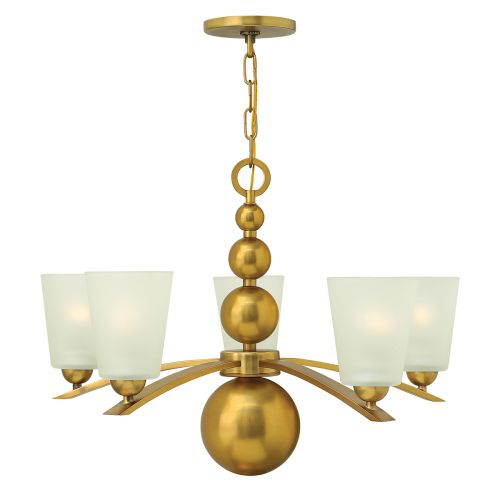 Hinkley Vintage Brass 5 Light Multi-Arm Ceiling Fitting Spherical Detail HK/ZELDA5 VS