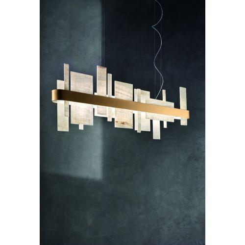 Masiero Honice Ceiling Small100cm Bar Pendant30W5400lm Matt Gold HONICE-S100-V99