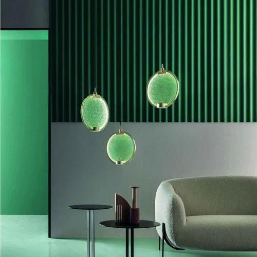 Masiero Horo 3 Light LED Hanging Glass Ceiling Pendant HORO-S3-VD