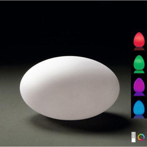 Mantra Huevo Oval Outdoor Floor Lamp IP65 M1383 White