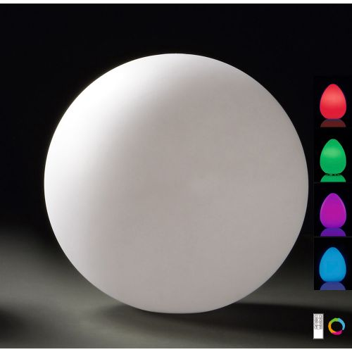 Mantra Huevo 1lt Outdoor Colour Changing Floor Table Lamp M1396
