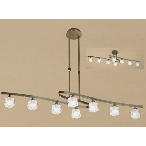 Mantra Ice 8 Light Antique Brass Ceiling Fitting M1860