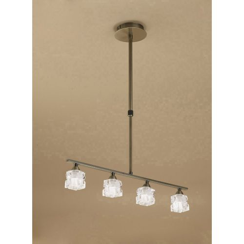 Mantra Ice 4 Light Antique Brass Ceiling Fitting M1867