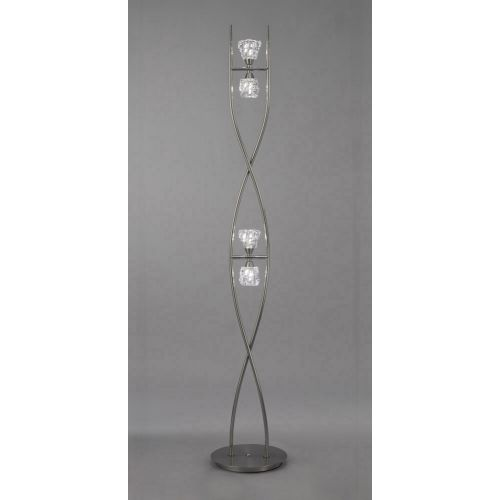 Mantra M3758 Iku Floor Lamp 4 Light G9 Satin Nickel