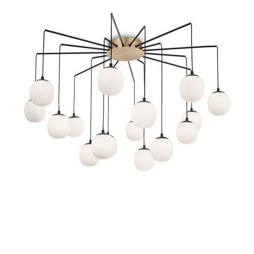Ideal Lux Rhapsody Chandelier 16 Light Black IDE/236964